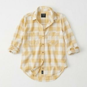 NWT Abercrombie and Fitch Plaid Button Down